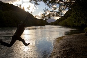 Rope Swinging over a river